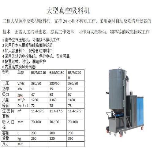 安徽大型真空吸料机哪个牌子好_大型真空工业吸尘设备哪个品牌好-山东博硕环保机械设备有限公司